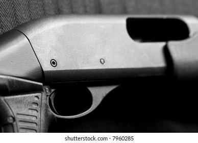 Shotgun receiver with focus on trigger