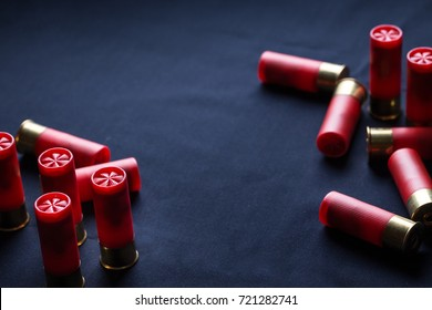 shotgun shell cartridge on black background