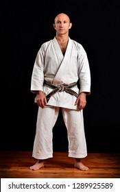 Shotokan karate professor portrait.