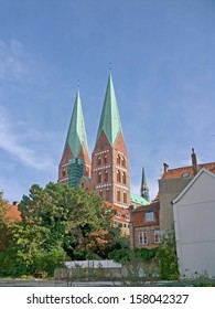 shots takes in germany city luebeck in autumn