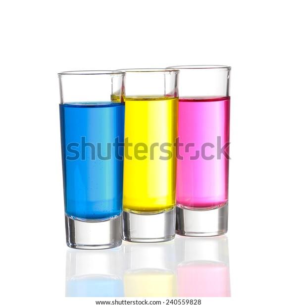 Shots Three C Shot Drinks On Stock Photo Edit Now 240559828