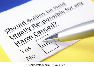 Should bullies be held legally responsible for any harm caused? Yes