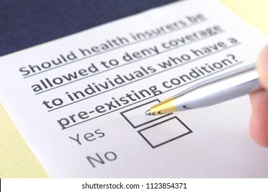 Should health insurers be allowed to deny coverage to individuals who have a pre-existing condition?