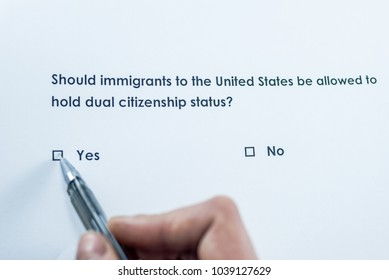 Should immigrants to the United States be allowed to hold dual citizenship status? Yes