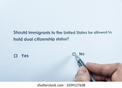 Should immigrants to the United States be allowed to hold dual citizenship status? No