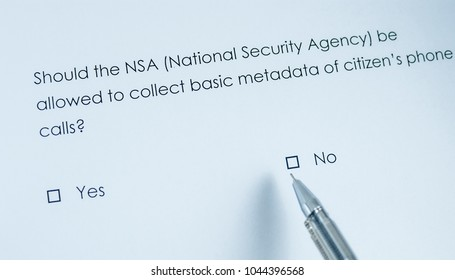 Should the NSA (National Security Agency) be allowed to collect basic metadata of citizen's phone calls? No