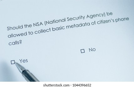 Should the NSA (National Security Agency) be allowed to collect basic metadata of citizen's phone calls? Yes