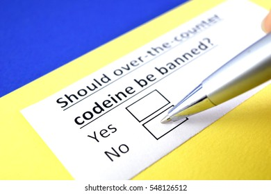 Should over the counter codeine be banned?  No