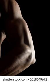 shoulder of african man