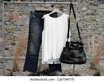 shoulder bag and sling bag with pouch