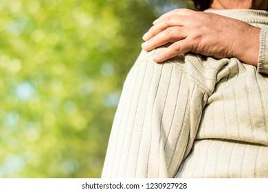 Shoulder Pain. Human arm