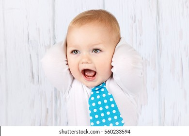 Shouting and arguing little boy