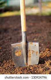 Shovel in field - outdoor