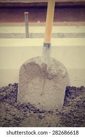 Shovel on a construction site.