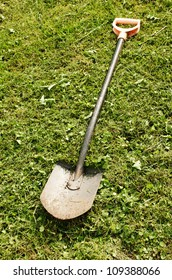 Shovel on grass