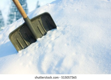 Shovel for snow removal. Stick a in a snowdrift