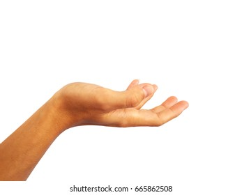 Show gesture to raise your hand to get things.