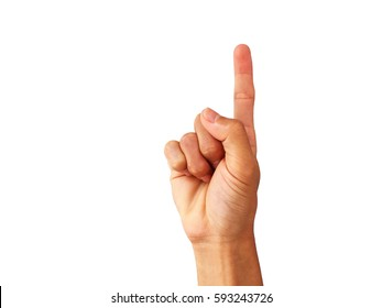 """show Hand is a symbol that """"I was the one"""" on a white background."""