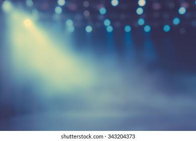 Show spotlight smog blurred background
