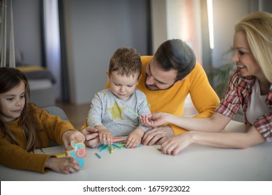 Show us what you learned. Parents and kids playing at home.