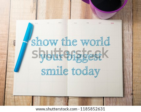 Show World Your Biggest Smile Business Stock Photo Edit Now
