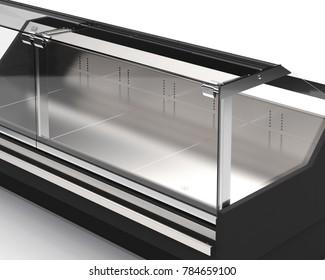 Showcase glass 3D illustration