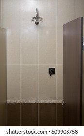 Shower cubicle in a change room