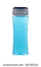 shower gel on white background
