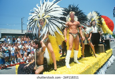 Showgirl Float in Gay and Lesbian Pride Parade, Hollywood, CA