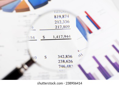 Showing business and financial report.