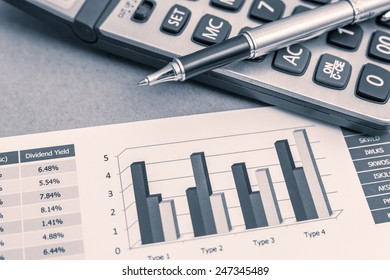 Showing business and financial report. Accounting
