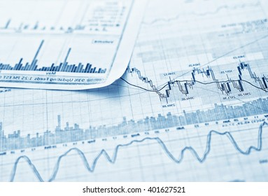 Showing business and financial report. Exchange.