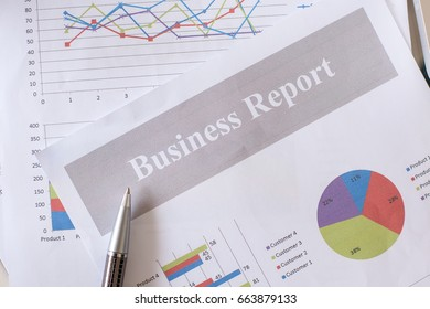 Showing business and financial report. Business finances and accounting concept