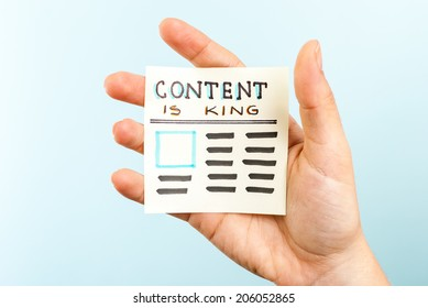 Showing content is king message