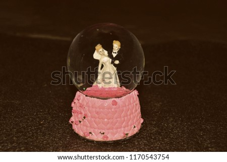 Showpiece Couple Under Water Gift Valentine Stock Photo Edit Now