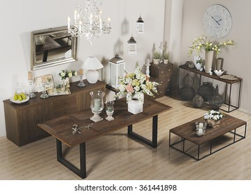 showroom with furniture and homeware