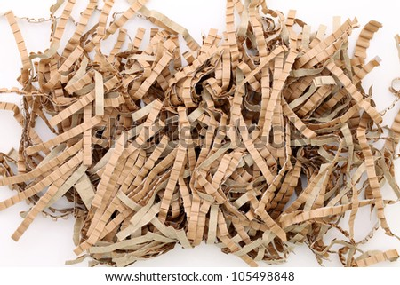 shredded brown paper packing material stock photo edit now