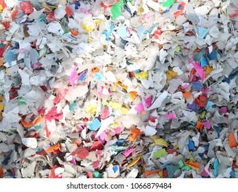 shredded plastic bottles waste