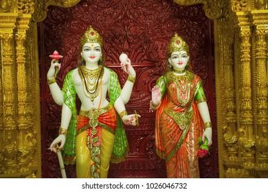 Shree lakhashminarayan statue, BAPS Swaminarayan mandir, Katraj
