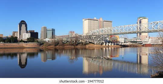 SHREVEPORT, LA - MARCH 13: The waterfront area located in Shreveport, Louisiana on March 13, 2014. Shreveport is the third largest city in the state of Louisiana.