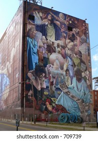 SHREVEPORT LA - OCT 2005: Millennium Moon Mural, Shreveport Louisiana