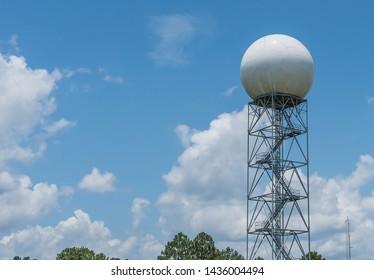 Shreveport, LA  /USA  6/15/2019 Weather station at Shreveport Louisiana National Weather Service location