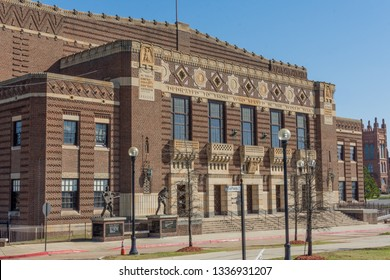 Shreveport, Louisiana/ USA - 1 25 2019 Shreveport's Historic Municipal Auditorium which was home to the Louisiana Hayride Radio Program where Elvis made his first public appearance.