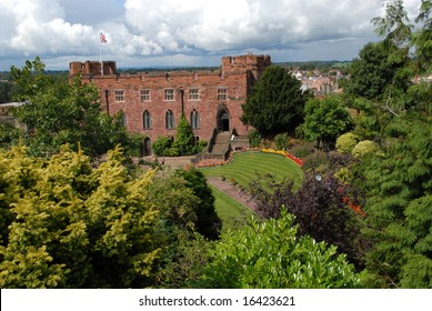 Shrewsbury Castle looking north.