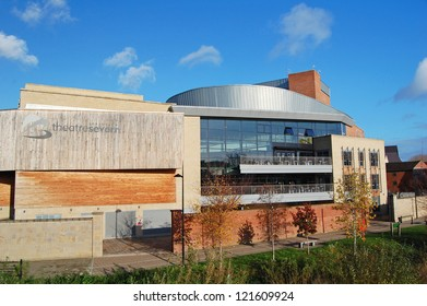 SHREWSBURY - DEC 3: exterior view of Theatre Severn in Shrewsbury, England on December 3, 2011. The venue was opened in 2009 to provide a new theatre, arts and cultural centre in the city.