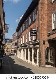 SHREWSBURY, SHROPSHIRE, UK - MAY 19, 2018: House of Fraser department store in Shrewsbury  Shropshire