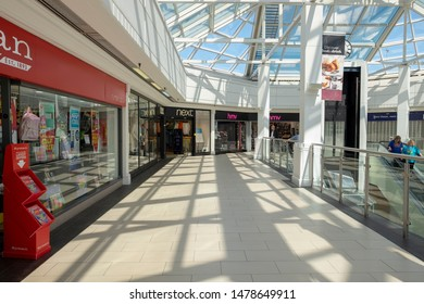 Shrewsbury,Shropshire/England 29 July 2019:Interior of the Pride Hill shopping Mall in Shrewsbury Shropshire.