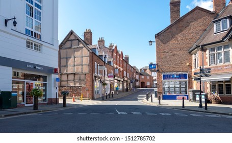 Shrewsbury,Shropshire/England - 29th July 2019:Looking up St Johns Hill in Shrewsbury Shropshire.
