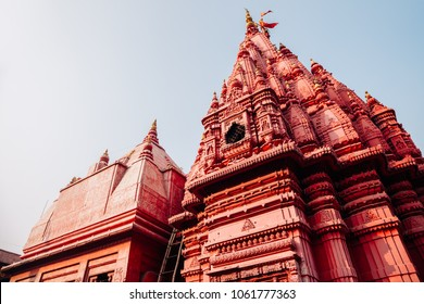 Shri Durga Temple historical building in Varanasi, India