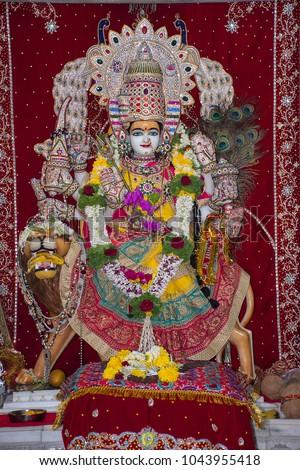 shri mata vaishno devi deity statue stock photo edit now
